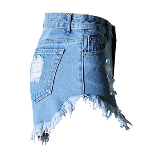 c866c2944082d 80%OFF Fedi Apparel Women s Plus size Ripped Hole Irregular High Waisted  Denim Shorts