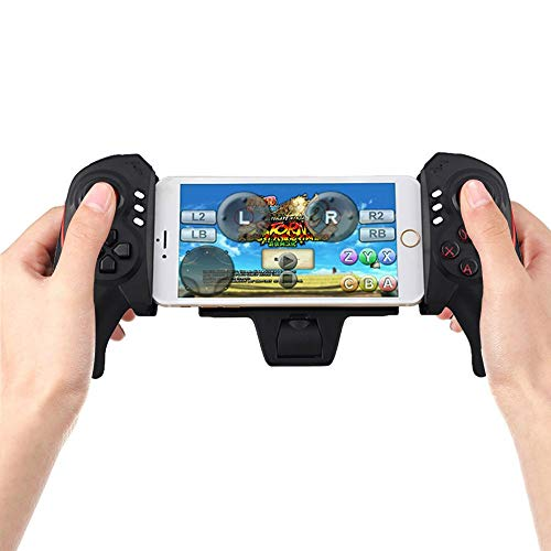 ElementDigital Bluetooth Game Controller Wireless Telescopic Bluetooth Gamepad Joystick Game Handle Cell Phone Attachable BTC-938 Saitake STK-7003 Gamepad Controller 5-10 Inch (Just for Android) (Light Relief Scam)