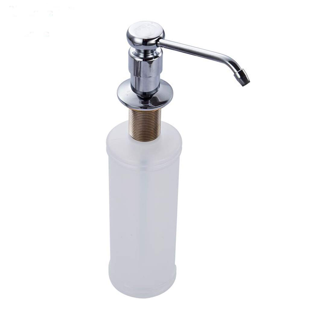 Fregadero Especial Dispensador de jabón Cocina Cobre Lleno Cilindro de detergente Botella Fregadero Accesorios Acero Inoxidable 350ML (Color : White): ...