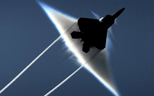 Military Lockheed Martin F-22 Raptor Fighter - 24X36 Poster