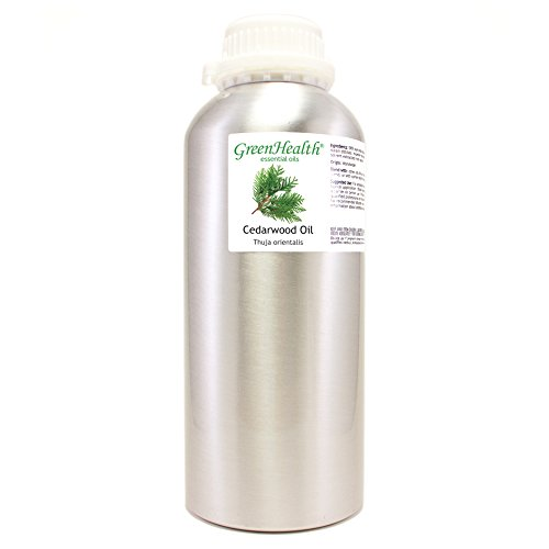 Cedarwood - 32 fl oz (946 ml) Aluminum Bottle w/Plug Cap - 100% Pure Essential Oil - GreenHealth
