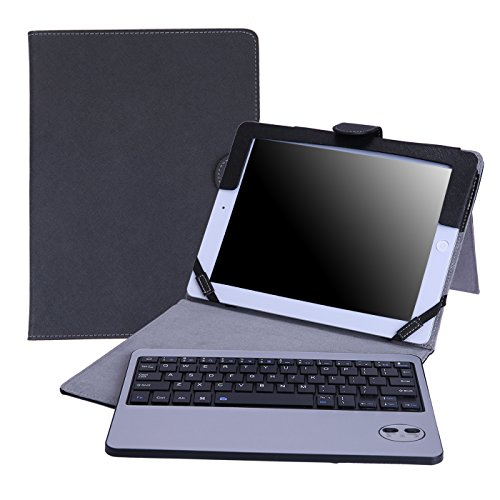 HDE iPad 2 Keyboard Case Wireless Bluetooth Leather Folio Cover Folding Stand for Apple iPad 2 3 4 (Black)