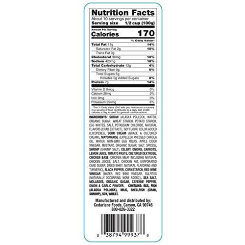 Evaxo Cedarlane Seafood and Shrimp Salad (11.25 lbs.)