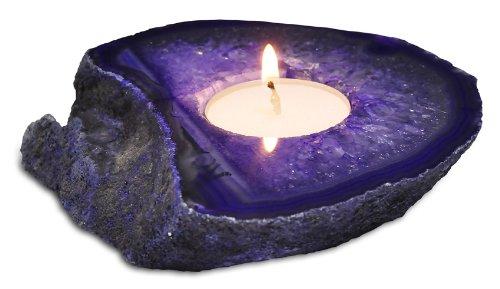 Agate Tea Light Candle Holder -