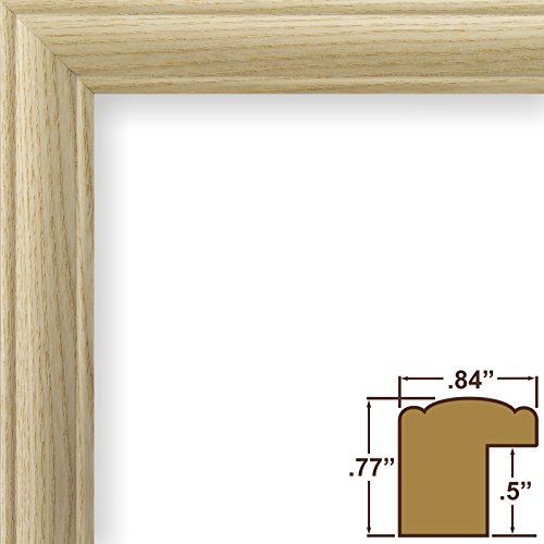 Craig Frames Wiltshire 68 Raw Empty Picture Frame .84-Inch Wide Unfinished Hardwood 4 by 6-Inch Ash Frame Shell