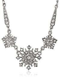 """Downton Abbey """"Stardust Boxed"""" Crystal Belle Epoch Starburst Statement Pendant Necklace, 16"""""""