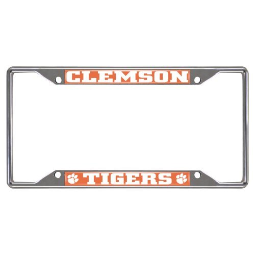 FANMATS NCAA Clemson University Tigers Chrome License Plate Frame by Fanmats