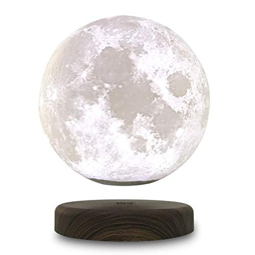 LEVILUNA 5.9''/15cm Magnetic Levitating Moon Lamp,Zeegine Seamless 3D Printing Moon Light, Rotating&Wireless Charging Floating LED Light, Business Creative Offical&Thanks Giving Day&Birthday Gifts