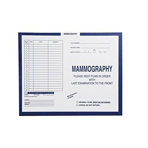 Mammography, Dark Blue #287 - Category Insert Jackets, System I, Open Top - 14-1/4'' x 17-1/2'' (Carton of 250)