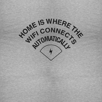 Texlab Home is Where The Wifi Connects Automatically - Herren Langarm T-Shirt Grau Meliert