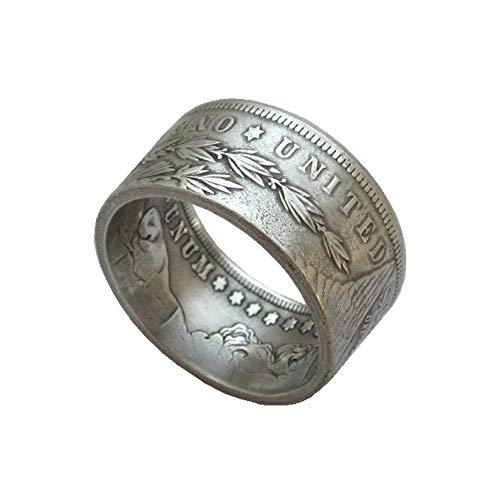 suiwoyoujooact Coin Ring Handcraft Rings Vintage Handmade from Replica Morgan Dollar Random Date Eagle Chritmas Gift