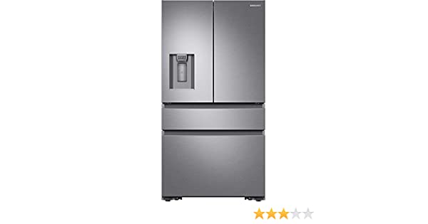 Samsung RF23M8070SR 23 cu. ft. Capacity Counter Depth 4-Door French Door Refrigerator RF23M8070SR/AA