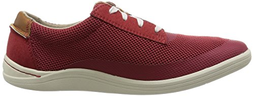 Clarks Mapped Edge - Zapatos de cordones oxford Hombre Rojo (Red Combi)