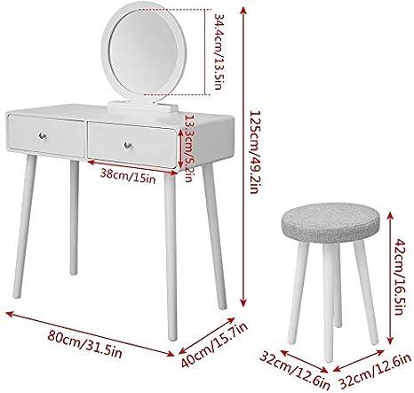 con una escritura pr/áctica consola de escritorio de la computadora sola habitaci/ón de dormitorio caj/ón,1 drawer Tocador blanco vestir la mesa