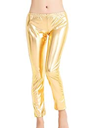 Speerise Womens Wet Look Shiny Metallic Stretch Leggings Fashion Pants