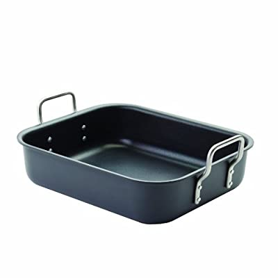 Eva Trio Dura Roasting Pan, Aluminum with Non-Stick Coating, 30 by 25 by 7-1/2cm, Gray
