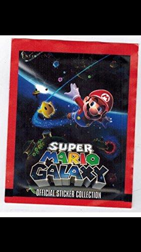 Super-Mario-Galaxy-Lot-of-2-Unopened-Wax-Pack-Nintendo-Stickers-Non-sport-Trading-Cards-Non-sport-Retro