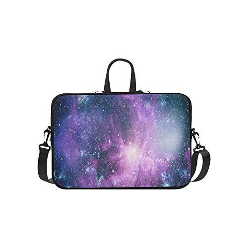 (Nebula Galaxies Space Elements This Image Briefcase Laptop Bag Messenger Shoulder Work Bag Crossbody Handbag for Business Travelling )