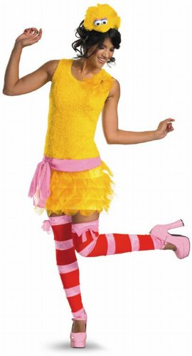 Big Bird Sassy Female Adult Costume Size Small (4-6)