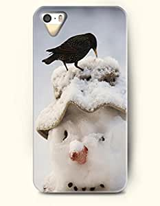 OOFIT iPhone 4 4s Case - A Black Bird On Snowman'S Head