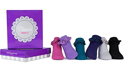 Trumpette Baby Girls' Sock Set-6 Pairs, Claire's-Assorted Colors, 0-12 Months