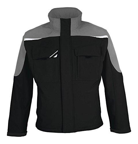 BESTWORK Softshell Jacke schwarz/grau Gr. M