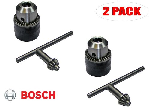 Bosch 11228VSR Hammer Drill Replacement 1/2 inch chuck w/key # 1608571069 (2 PACK)
