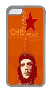 Orange Che Guevara Custom Apple iPhone 5C Case TPU Case Cover Compatible with iPhone 5C Transparent