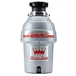 Waste King Legend Series 1.0-Horsepower Continuous-Feed Garbage Disposal - (L-8000)