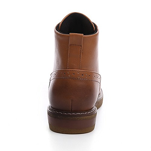 Shoes PU Round for Toe ZHZNVX Draped Leatherette Booties HSXZ Synthetic Boots Fall Winter Microfiber Brown Boots Casual Novelty Women's Comfort Flat Ankle AXFwxEFS