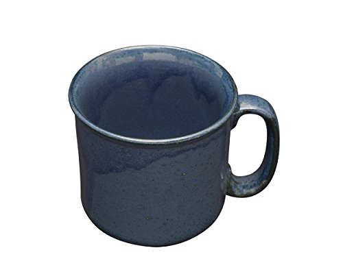 Blue Ceramic Beer Mug Tea Coffee Studio Pottery Handmade Stoneware Pottery Serveware