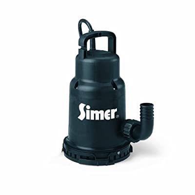 Simer 2430 1/3 HP Submersible Utility Pump