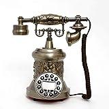 ZLBYB Reloj de teléfono Antiguo, Hace una Pieza de Acento excelente for Cualquier habitación, Negro
