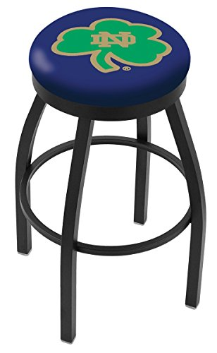 Holland Bar Stool L8B2B Notre Dame (Shamrock) Extra-Tall Swivel Bar Stool, 36