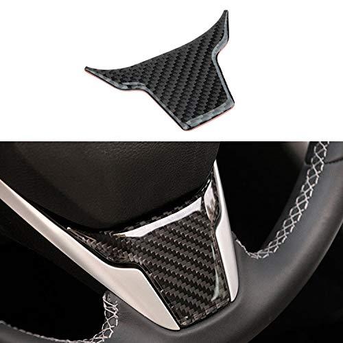 TopDall Carbon Fiber Steering Wheel 3D Sticker Cover Trim For Honda Civic - Carbon Wheel Fiber Honda