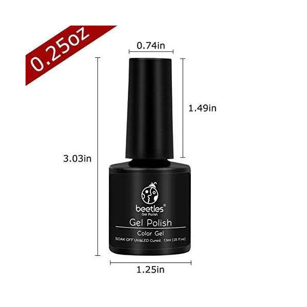 Beetles Black Gold Glitter Gel Nail Polish Set - 6 Colors White Silver Rose Glitter Gel Polish Kit Soak Off Nail Gel Kit…