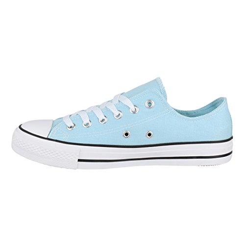 Unisex Sportschuhe Elara Sneaker Top Eine Basic Low Bequeme 36 46 Herren Größer Turnschuh für Fällt Aus Damen und Nummer Blue Textil Schuhe dpqpBx