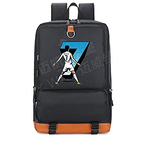 cbb0f13818 Amazon.com  2018 Cristiano Ronaldo CR7 Backpack Teenagers Canvas Shoulder  Travel School Bag Women Bookbag Men Laptop Bags Mochila  Kitchen   Dining