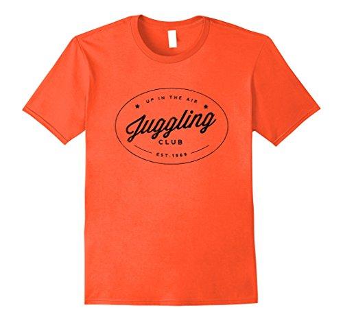Mens Up in the Air Juggling Club Shirt Medium Orange