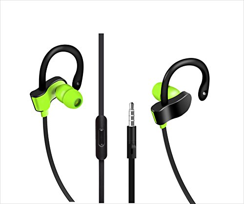 EDOG Ear hook Sport Running Gym Earphones,iPhone Earbuds, Apple Earbuds,Headphones, headsets,with Mic&Call Control for iPhone SE/5S/5C/5/6/6S Plus,iPad /iPod Nano 7/iPod Touch/Samsung/HTC/LG m (Green) (Ipod Nano Mic)