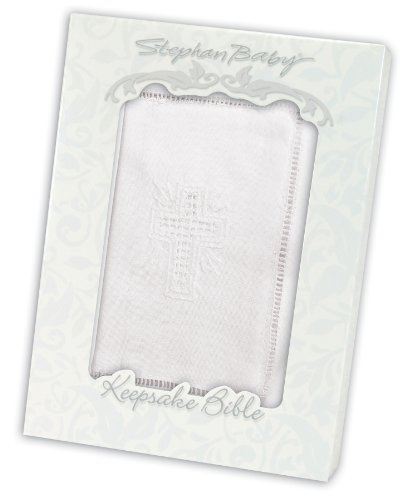 Stephan Baby Keepsake Bible with Embroidered Cover and Ribbon-Tie Closure, White by Stephan Baby (Image #2)