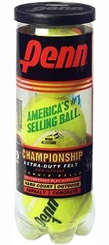 3 Balls Head 521401 Penn Championship Extra Duty High Altitude Tennis Ball Can