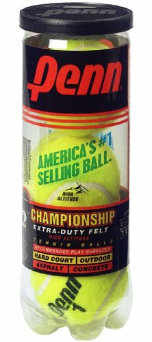Penn Championship Extra Duty High Altitude Tennis Ball Can, 3 Balls