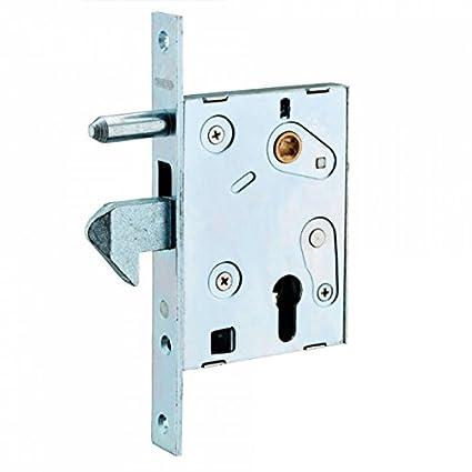 Cerradura para mechar con gancho para puertas correderas, cilindro