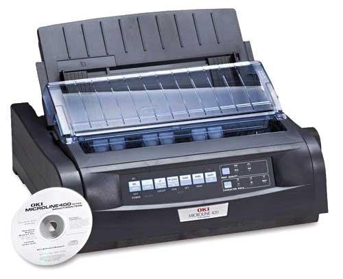 Okidata 91909701 OKI Microline 420 - Printer - monochrome -