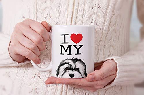 MUGBREW I Love My White Silver Havanese Dog Ceramic Coffee Gift Mug Tea Cup, 11 OZ 7