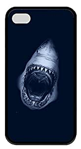 iPhone 4 4s Cases & Covers - Shark Jaws Custom TPU Soft Case Cover Protector for iPhone 4 4s - Black