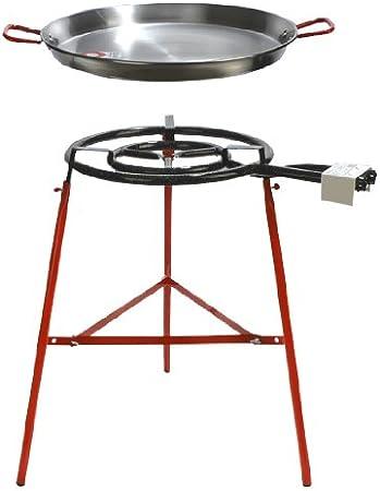 La ideal – Paella pulida 60cm + Hornillo mod. 500 + soporte reforzado: Amazon.es: Hogar