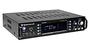 Rockville RPA70WBT 1000w 2 Channel Rack DJ Amplifier/Mixer/w/Bluetooth/USB+Mics from Rockville