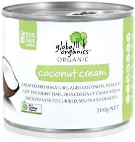 Global Organics Organic Coconut Cream 200 g